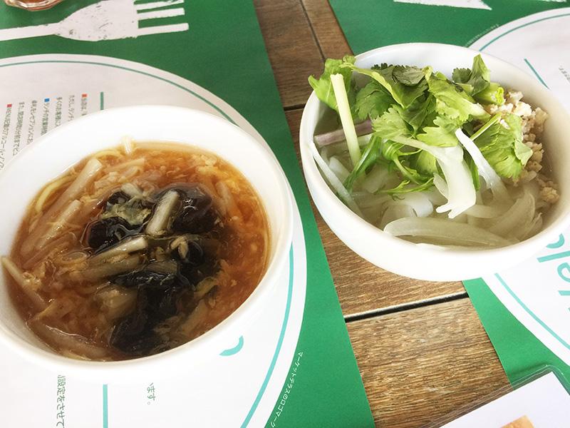 麺やスープ類は小さめのボール