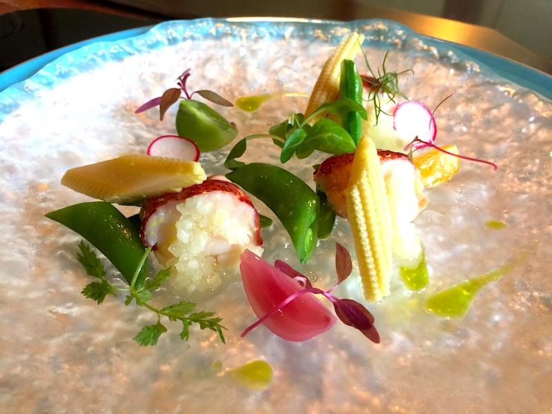 オマール海老と夏野菜のマリネ