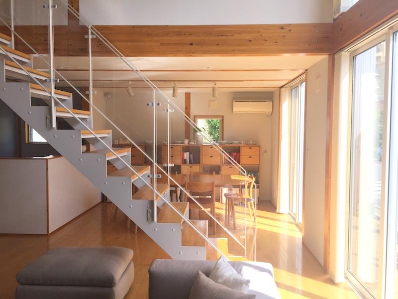 無印良品の家のスケルトン階段