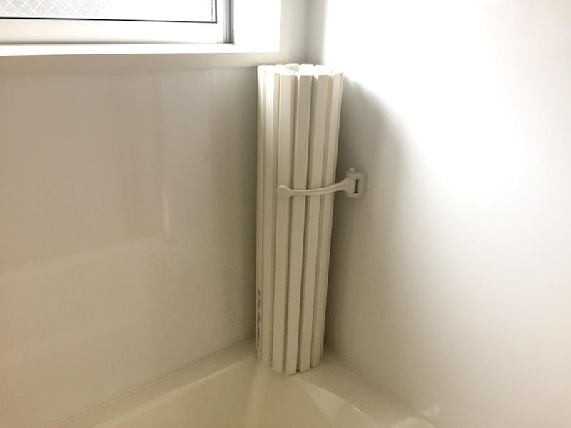 無印良品の家の風呂フタは巻いて立てれる