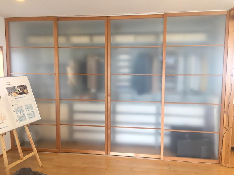 無印良品の家のキッチンと同じ広さの収納スペース