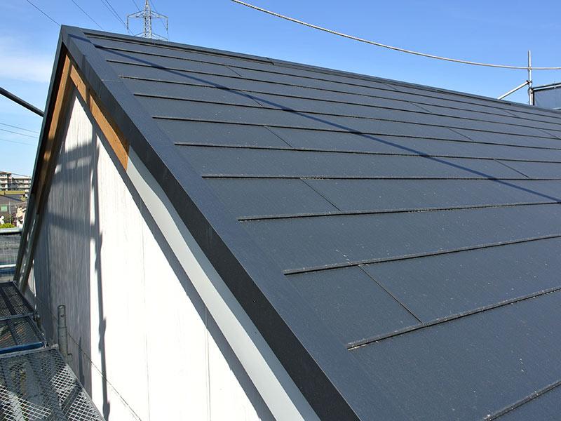 5.5寸勾配のガルバリウム屋根