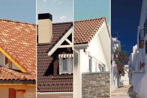 南ヨーロッパ風の屋根瓦「サンレイ」ブラウン系カラーの比較