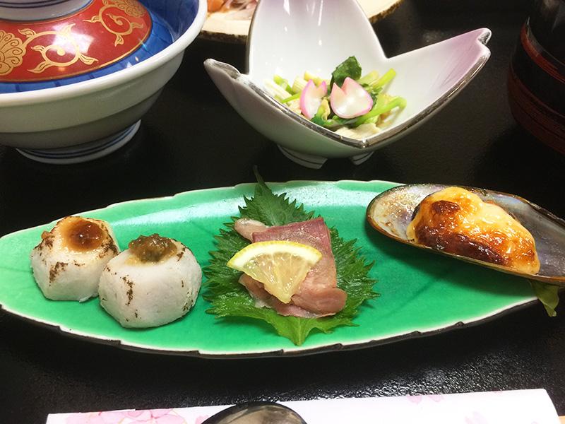 里芋、合鴨、ムール貝