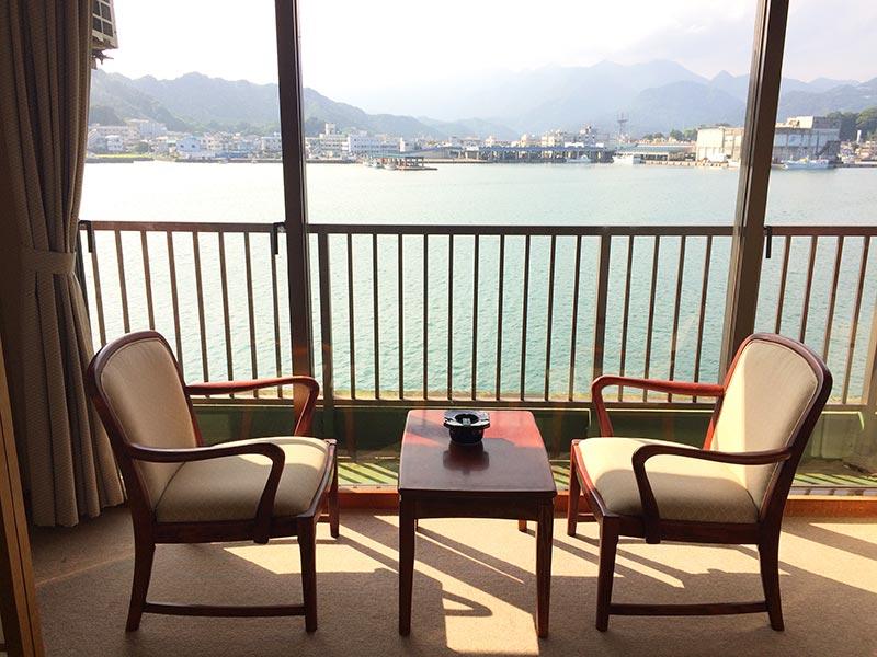 ホテル中の島1号館のオーシャンビュー