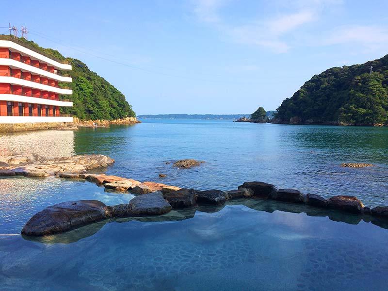 ホテル中の島露天風呂(潮聞亭側)