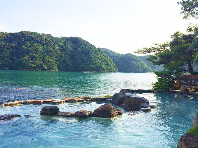 ホテル中の島露天風呂(1号館側)