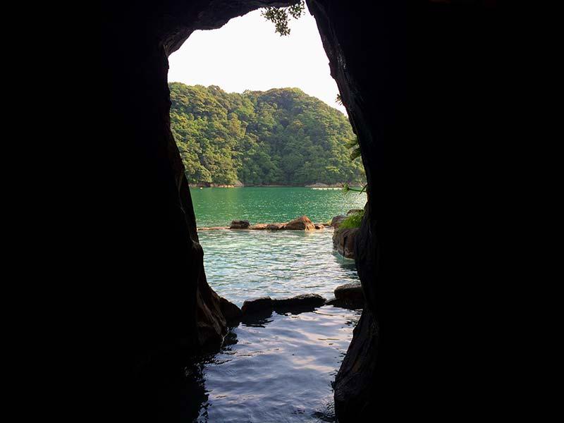 ホテル中の島湯元からの景色