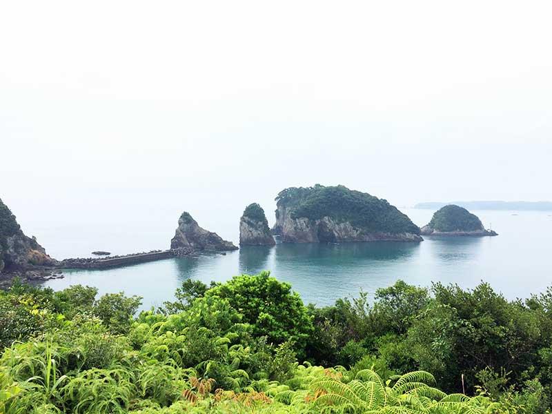 ホテル中の島からの熊野灘