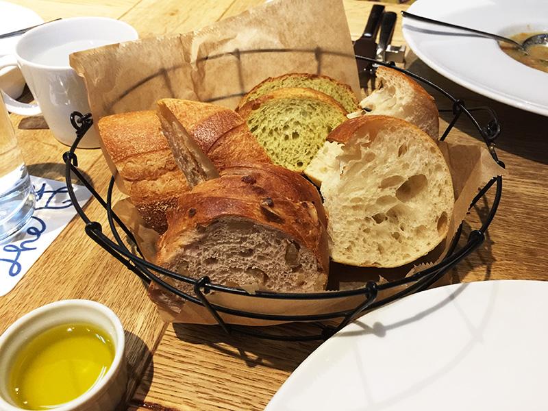 盛り合わせのパン