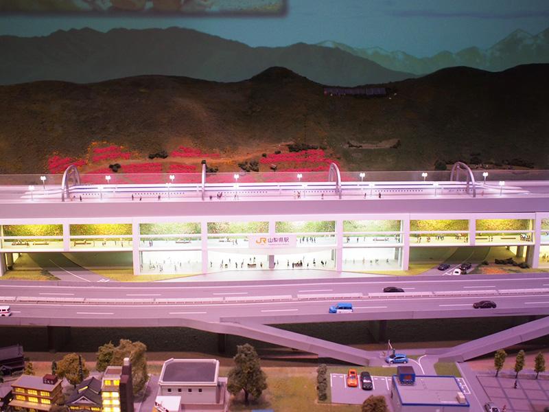 ジオラマの山梨県駅