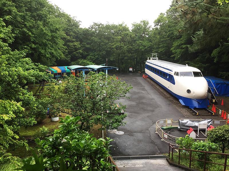 ミニSL列車と新幹線コーナー