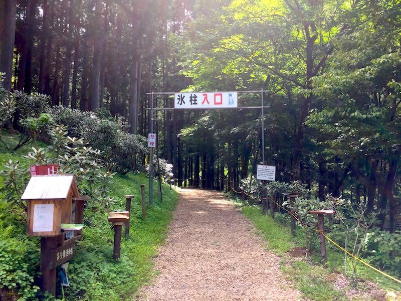 尾ノ内渓谷の遊歩道