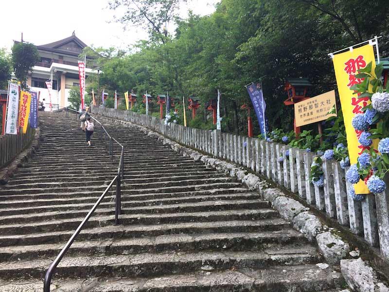熊野那智大社の階段