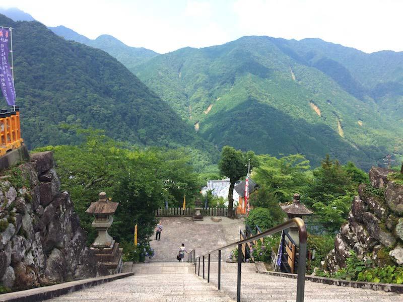 熊野那智大社からの景色