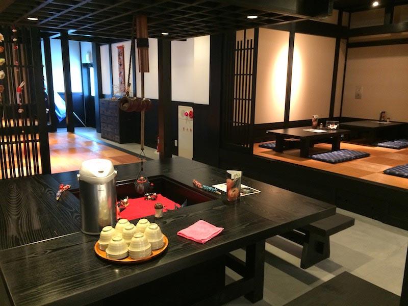 和か屋本店のカフェスペース