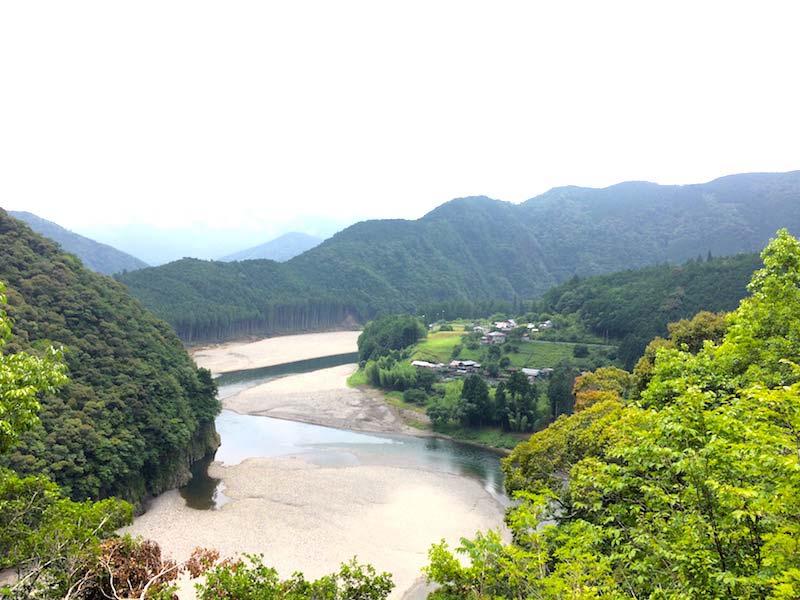 木津呂集落の眺望
